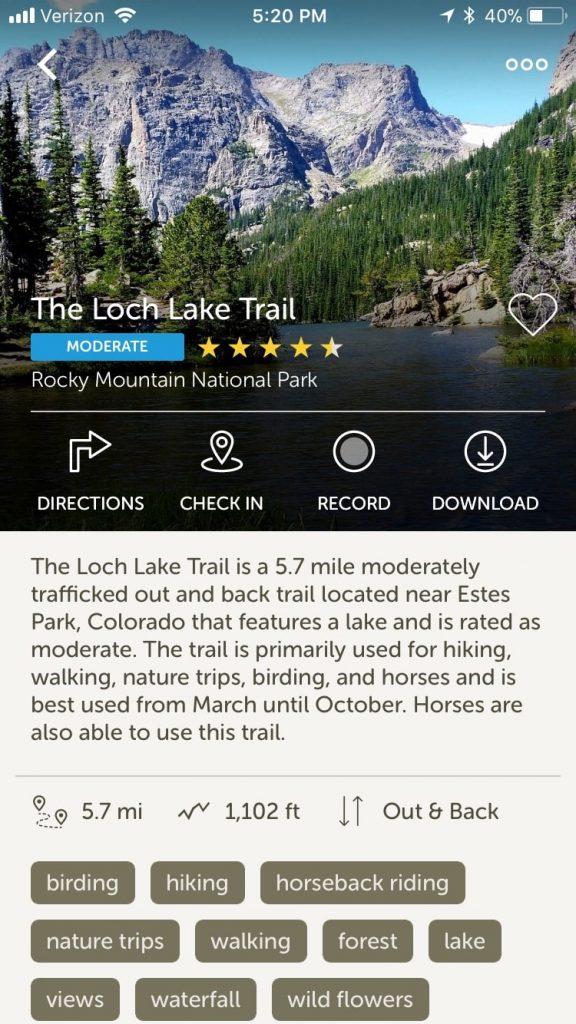 AllTrails Trail Details
