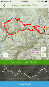 AllTrails Trail Map Details