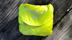 Osprey Talon 33 Backpack High Visibility Rain Cover Folded