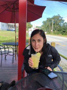 Erin Drinking a Margarita
