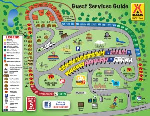 KOA Campground Lincoln Woodstock New Hampshire Map