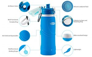 Magiclocci Collapsible Water Bottle 750ml