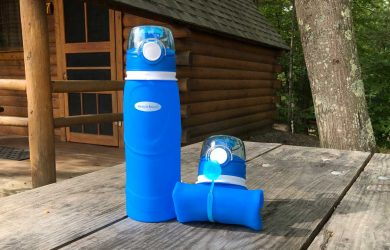 Magiclocci Collapsible Water Bottle 750ml Expanded and Collapsed
