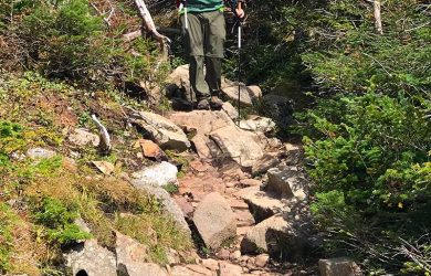 Me Descending Franconia Ridge Trail