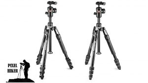 Picture of Two Styles of MANFROTTO BEFREE 2N1 COMBINATION ALUMINIUM TRIPOD MONOPOD