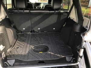 Jeep Wrangler Unlimited Rear Cargo Mat Tray With Floor Mounted Sub Cutout 2