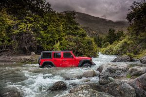 2018 Jeep Wrangler JL Rubicon in a River