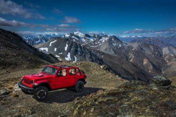 2018 Jeep Wrangler JL Rubicon On Mountain Top