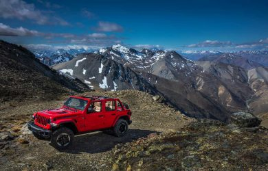 2018 Jeep Wrangler JL Rubicon On Mountain Top