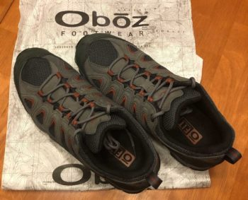 Mens Oboz Sawtooth II Low Hiking Shoes Top