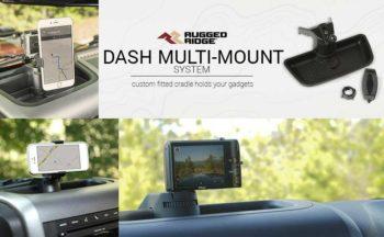 Rugged Ridge 13551.16 Dash Multi-Mount with Phone Kit for 2011-2018 Jeep Wrangler JK