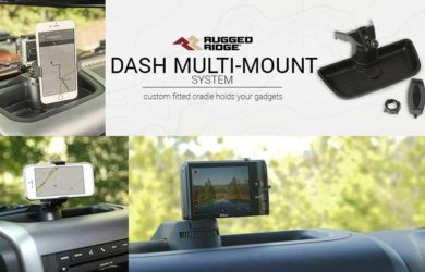 Rugged Ridge 13551.16 Dash Multi-Mount with Phone Kit for 2011-2018 Jeep Wrangler JK