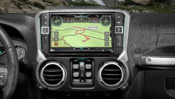 Jeep Alpine X209-WRA-OR In-Dash Restyle System