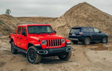 2020 Jeep Gladiator vs 2019 Toyota 4Runner